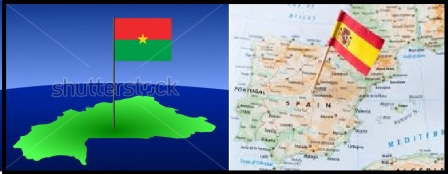 Burkina-Espagne-Montage-Drapeau