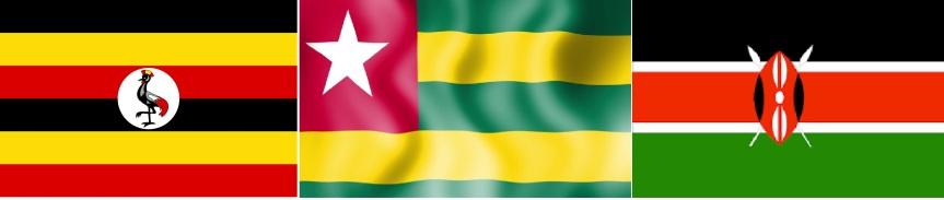 Uganda- Togo- Kenya -Flag
